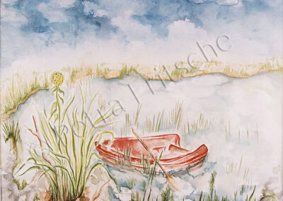 Das rote Ruderboot